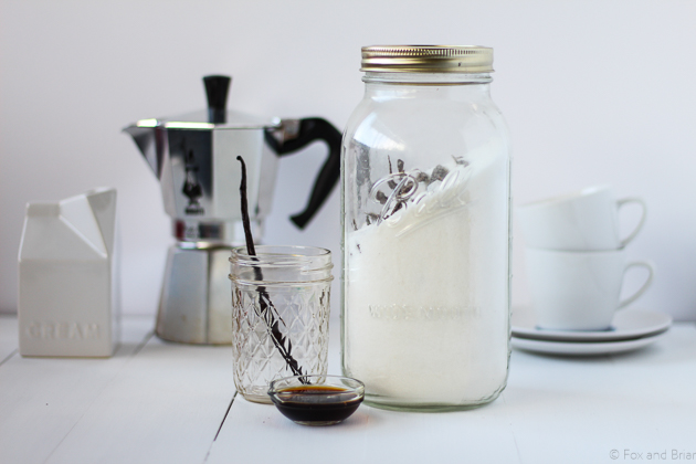 Triple Vanilla Syrup. Only 3 ingredients and super easy to make.