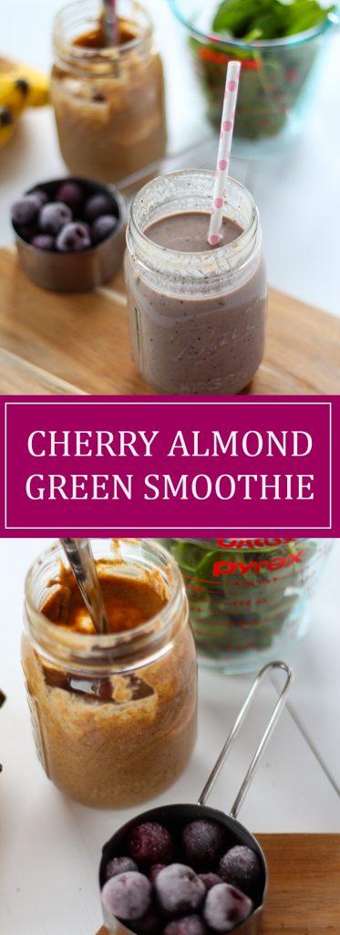 Cherry Almond Green Smoothie