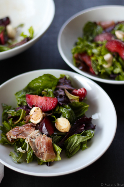 Plum, Mozzarella and Prosciutto Salad