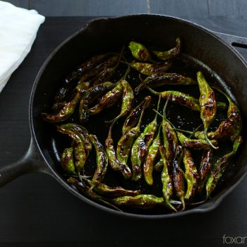Blistered Shishito Peppers with Garlic L...