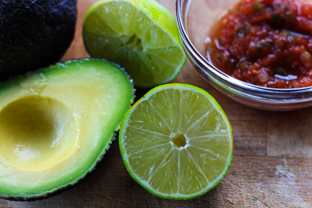 This super easy guacamole only has 4 ingredients and is sooo easy to make. Also, totally addictive!