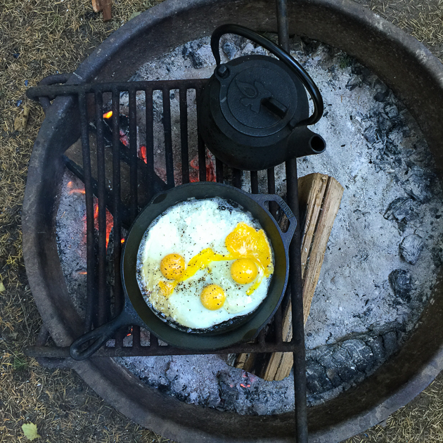 Easy camping meal plan with real food