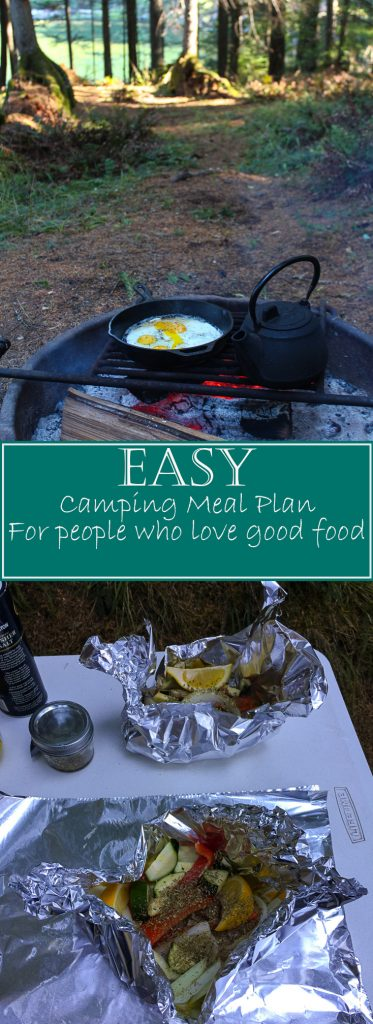 Easy camping meal plan for people who love good food