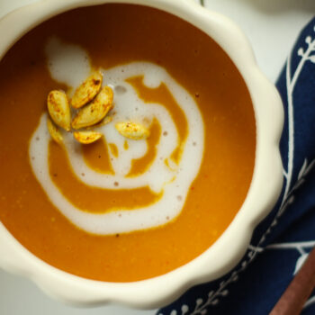 Roasted Pumpkin Coconut Curry Soup
