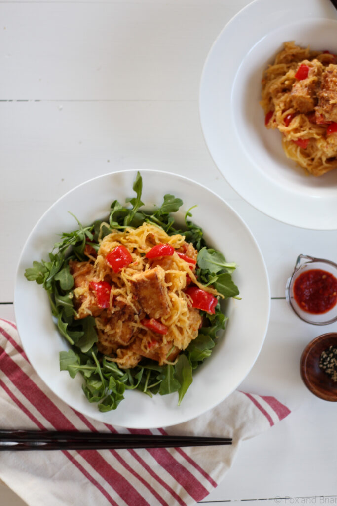 Spicy Peanut Tofu and Spaghetti Squash from Fox and Briar