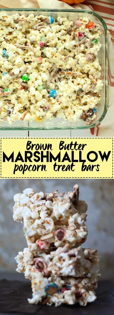 Marshmallow popcorn bars that are stuffed with treats These are perfect halloween treats!. Plus I made you a playlist!