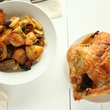 Every Adult should know how to roast a chicken. It is impressive, it is economical and it tastes amazing. Here is my favorite one pan meal.
