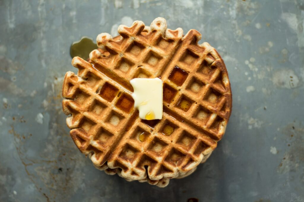 These apple cider waffles are sweet, and tangy with a hint of spice, perfect for fall mornings.