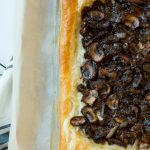 This savory mushroom and gruyere tart would make and easy and elegant appetizer or light meatless dinner.