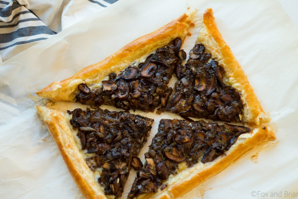 This savory mushroom and gruyere tart would make an easy and elegant appetizer or light meatless dinner.