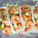 These chili lime shrimp tacos are super flavorful and take less than 30 minutes to make.
