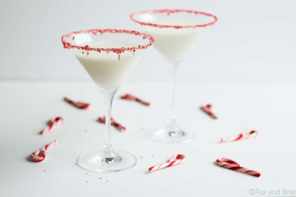 This sweet holiday martini has lots of peppermint and vanilla flavor, just like a peppermint marshmallow!