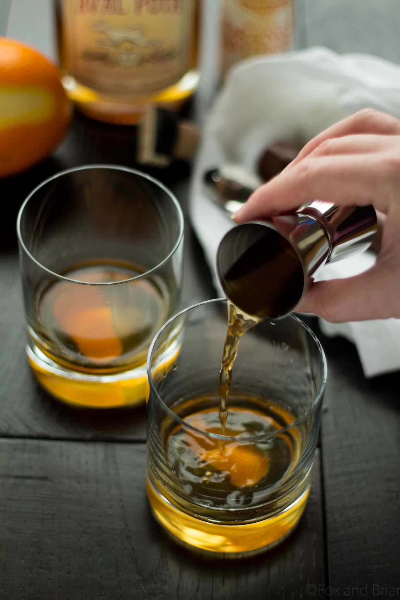 This twist on the classic old fashioned uses apple whiskey to make a totally enjoyable cocktail. Whether you are a new or experienced whiskey drinker, you will love this cocktail!