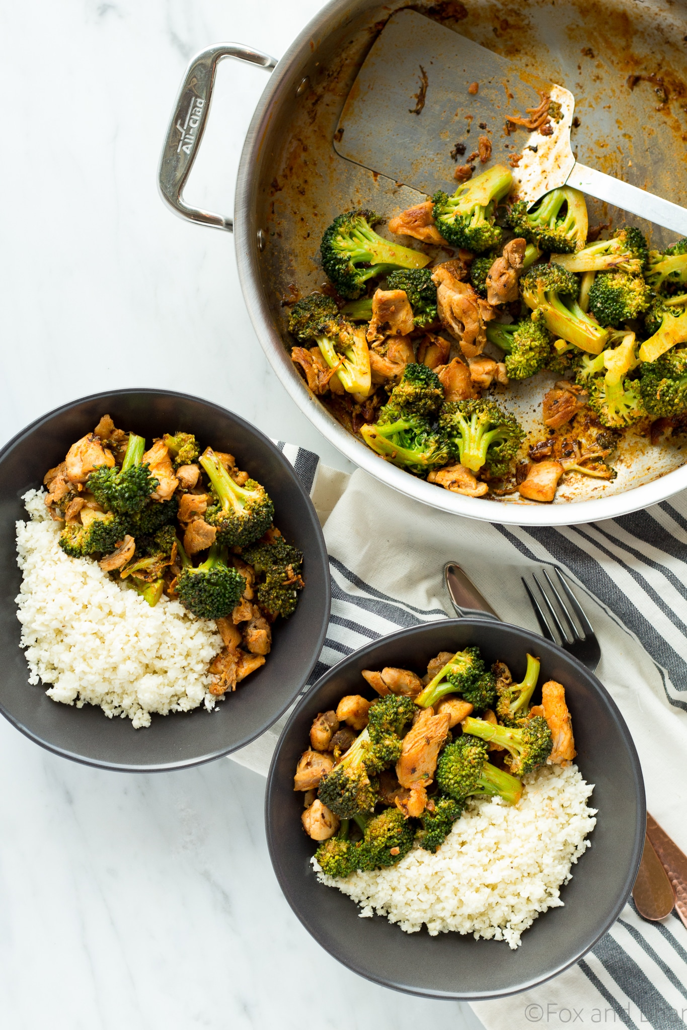 Buffalo chicken and broccoli bowls fox and briar this buffalo chicken and broccoli bowl is fast easy and flavorful chicken and broccoli forumfinder