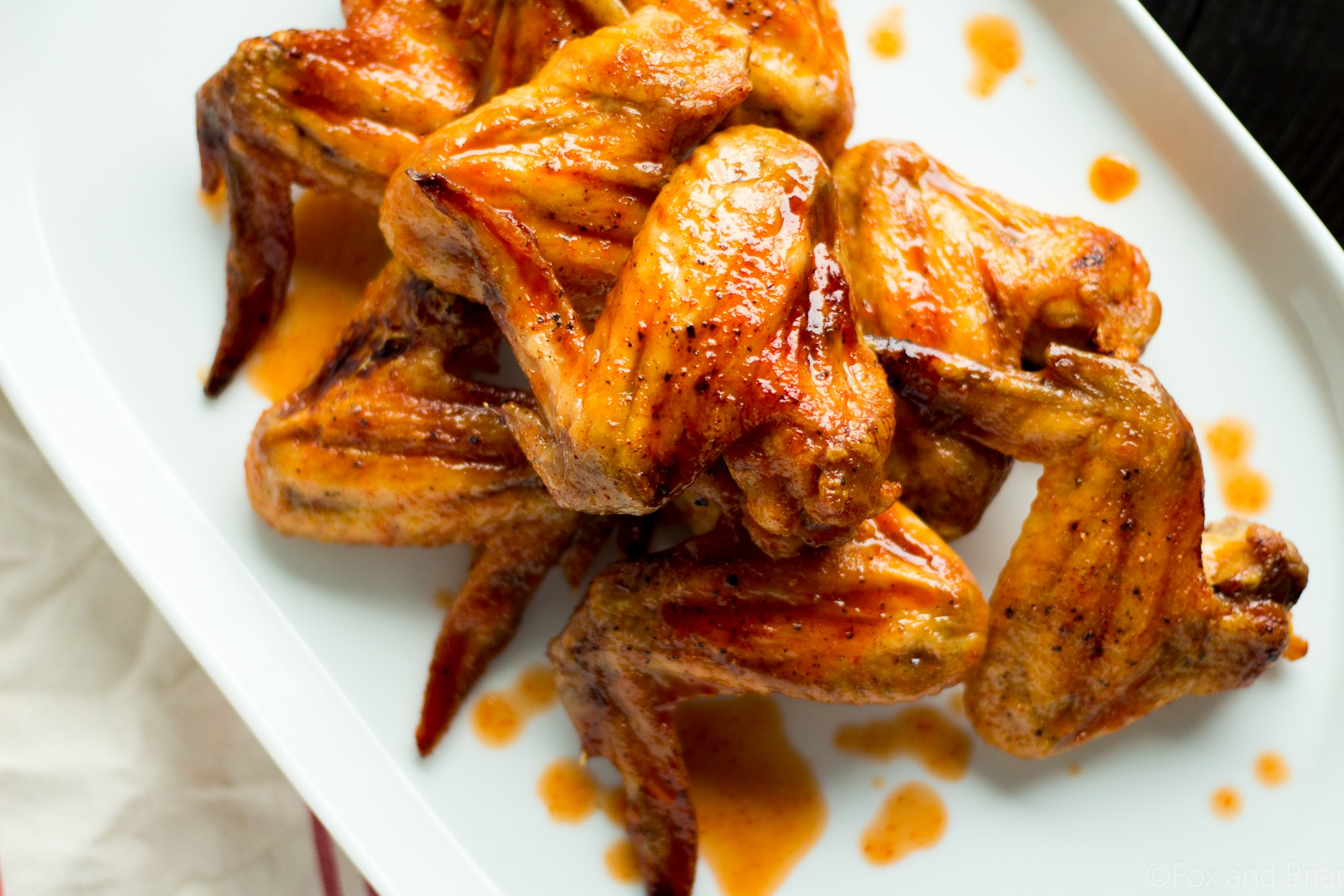 Sriracha Brown Sugar Baked Wings