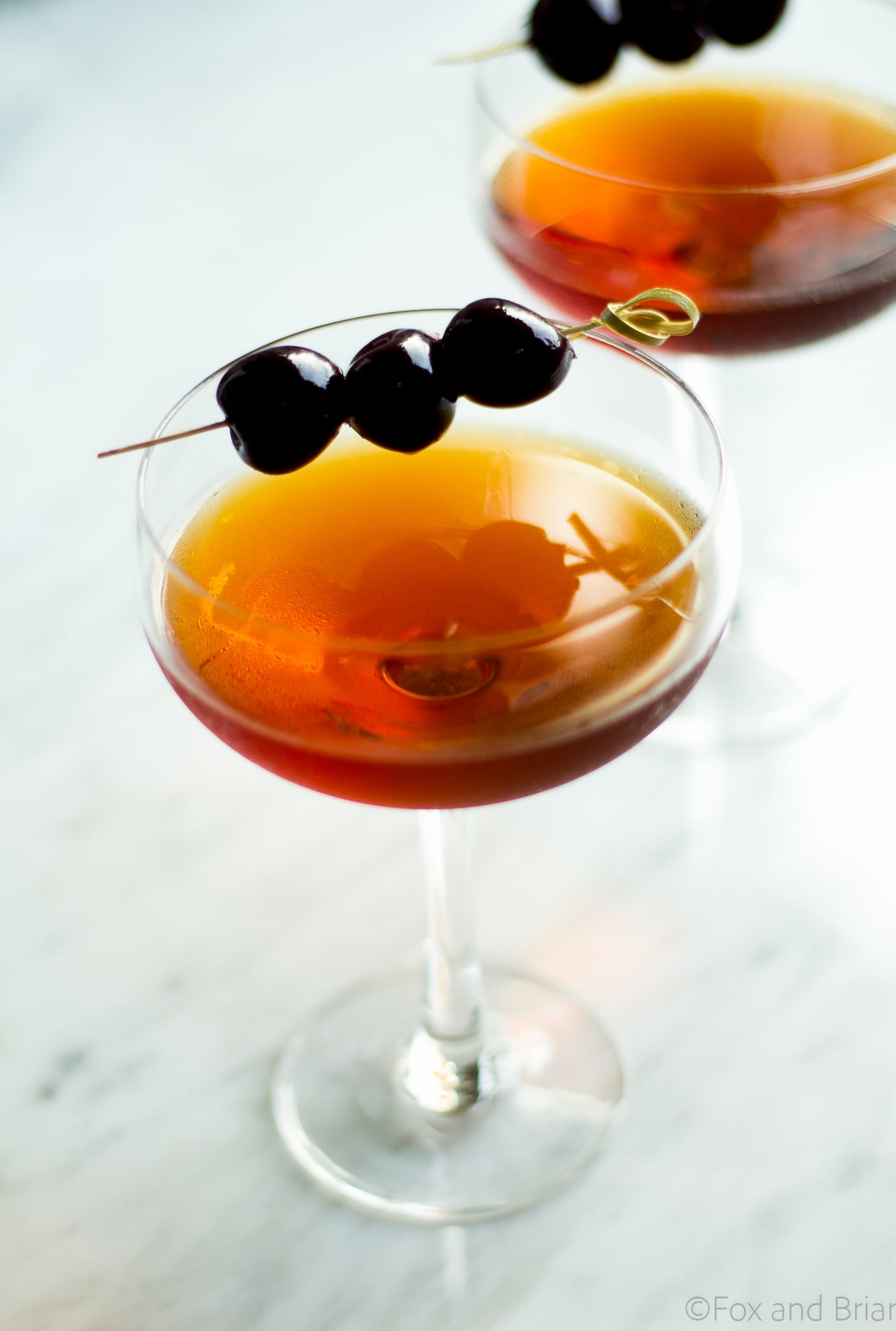 This classic Manhattan cocktail is classic for a reason! Rye whiskey, sweet vermouth plus a secret ingredient that gives a little twist on the original!