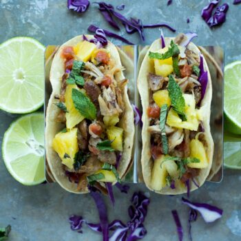Slow Cooker Pork Tacos with Pineapple Mi...
