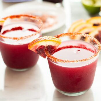 Blood Orange Margarita with Smoky Salt