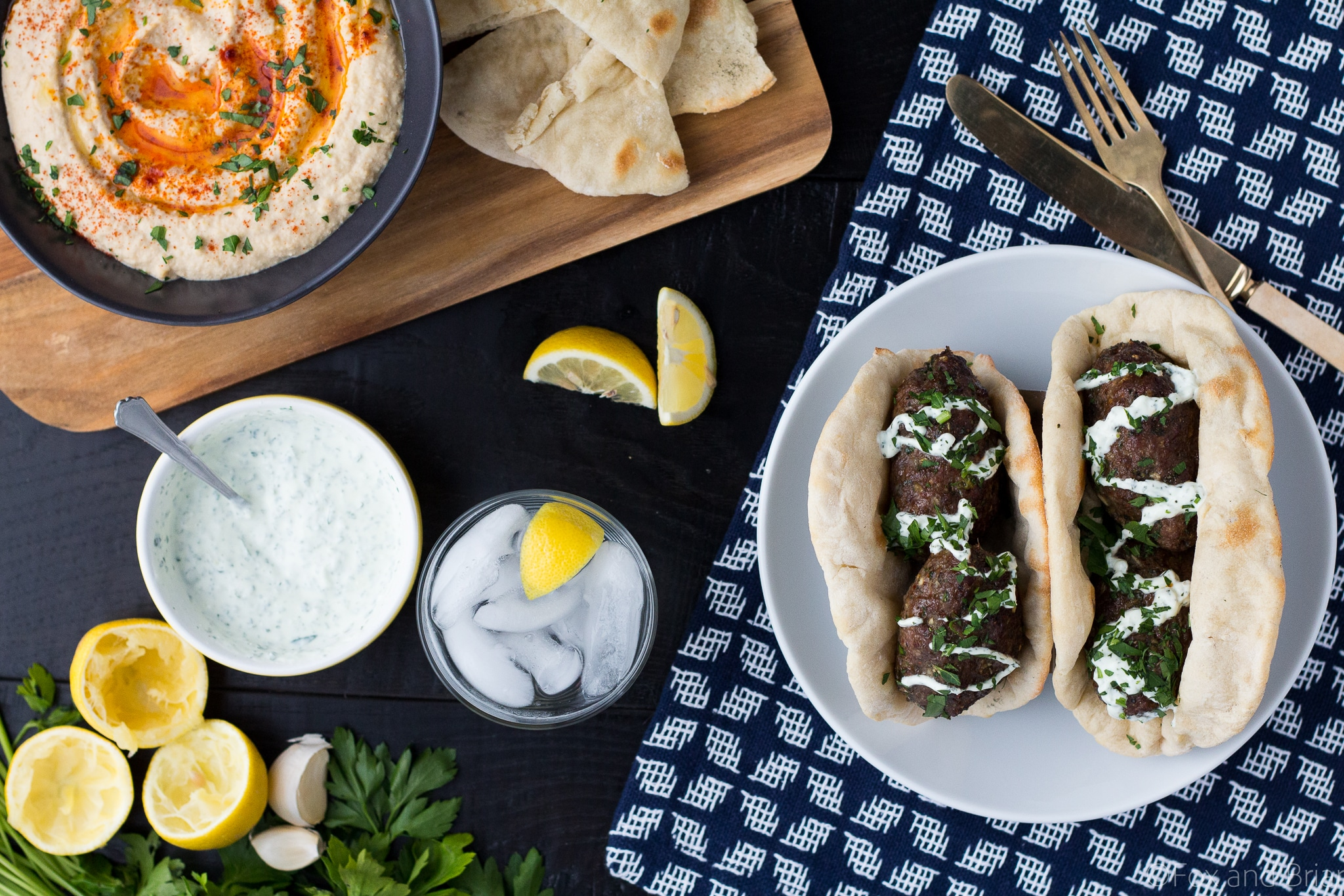 These Grilled Lamb Kofta Kebabs are spiced middle eastern meatballs that you can grill or bake in the oven!