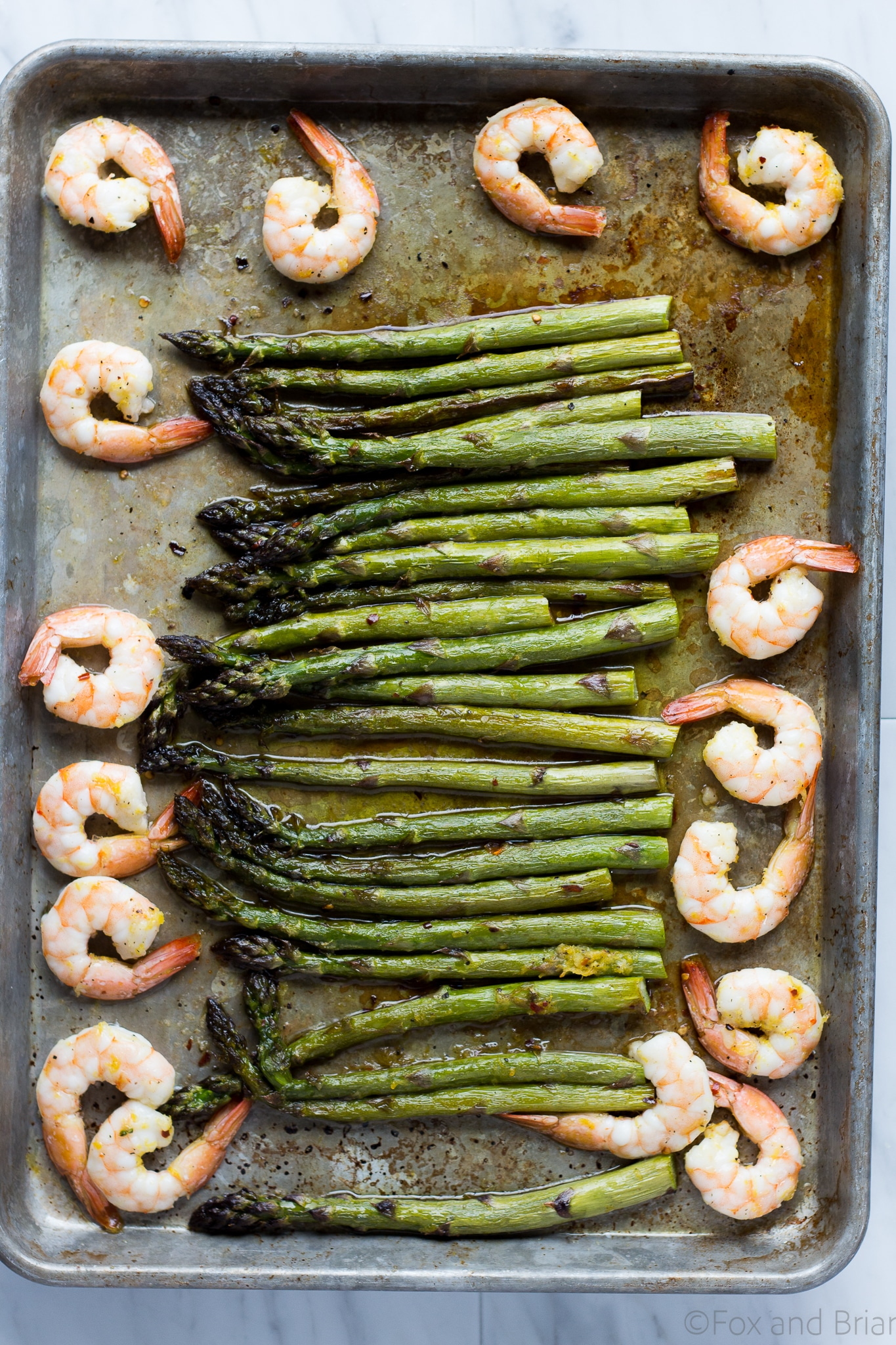 Roasted Shrimp and Asparagus by Fox and Briar