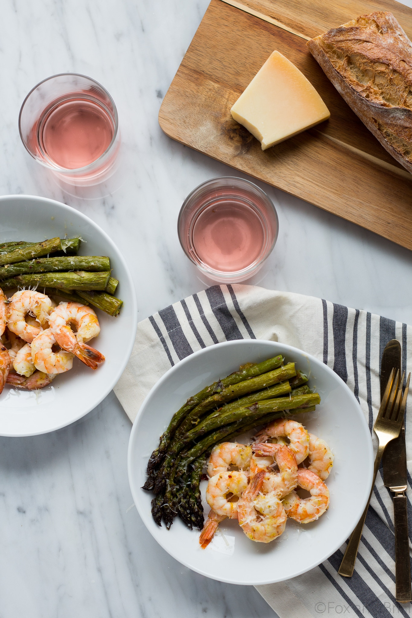 This Roasted Shrimp and Asparagus is a quick one pan sheet meal can be made in about 20 minutes and is tasty and healthy!