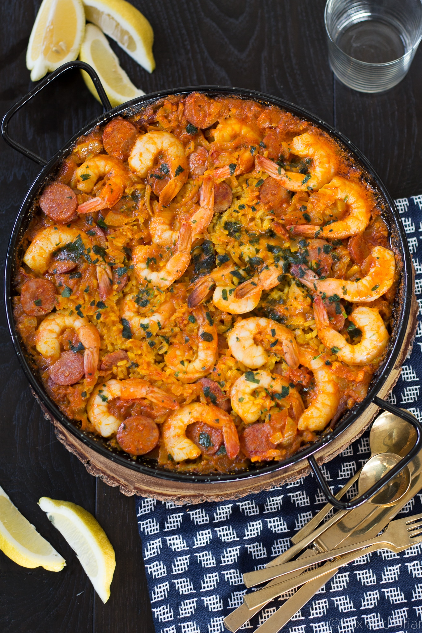 Shrimp And Chorizo Paella Fox And Briar