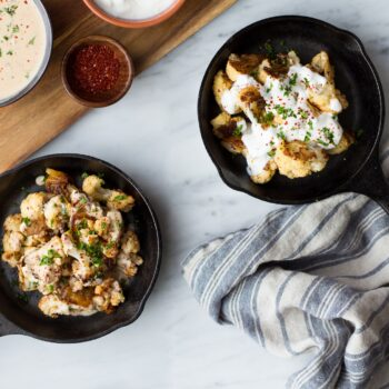 Roasted Cauliflower With Yogurt Sauce (Zahra)