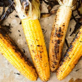 Nothing says summer like than fresh corn on the cob. Take advantage of its peak flavor by throwing it on the grill. This Charred Grilled Corn is packed full of smoky summer flavor, perfect for your next BBQ!
