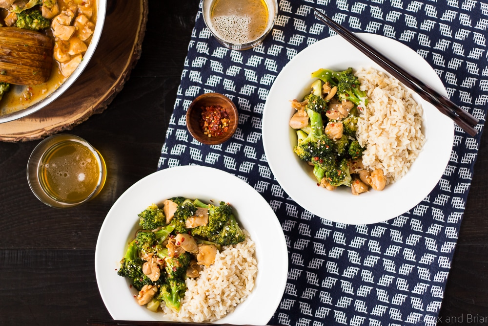 This Healthier One Pan Orange Chicken and Broccoli is a quick and healthy dinner made in about 20 minutes!