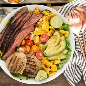 Mexican Grilled Flank Steak Salad with H...