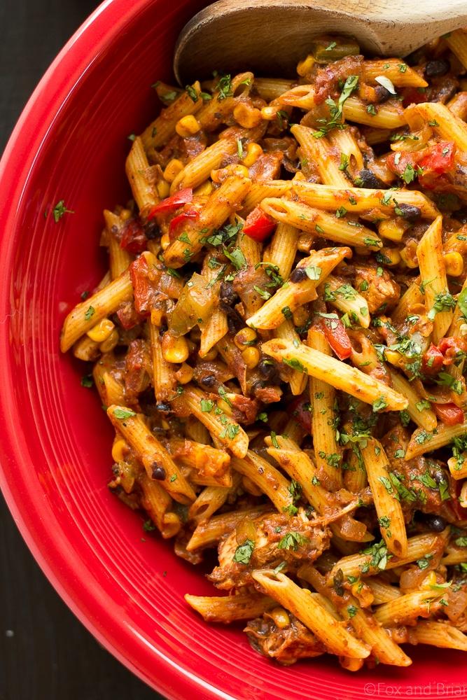 Chicken Taco Pasta   Thanksgiving Pasta Recipes   Homemade Recipes