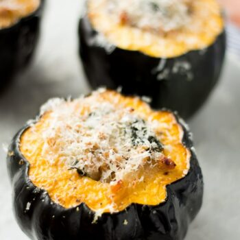Sausage and Kale Stuffed Acorn Squash