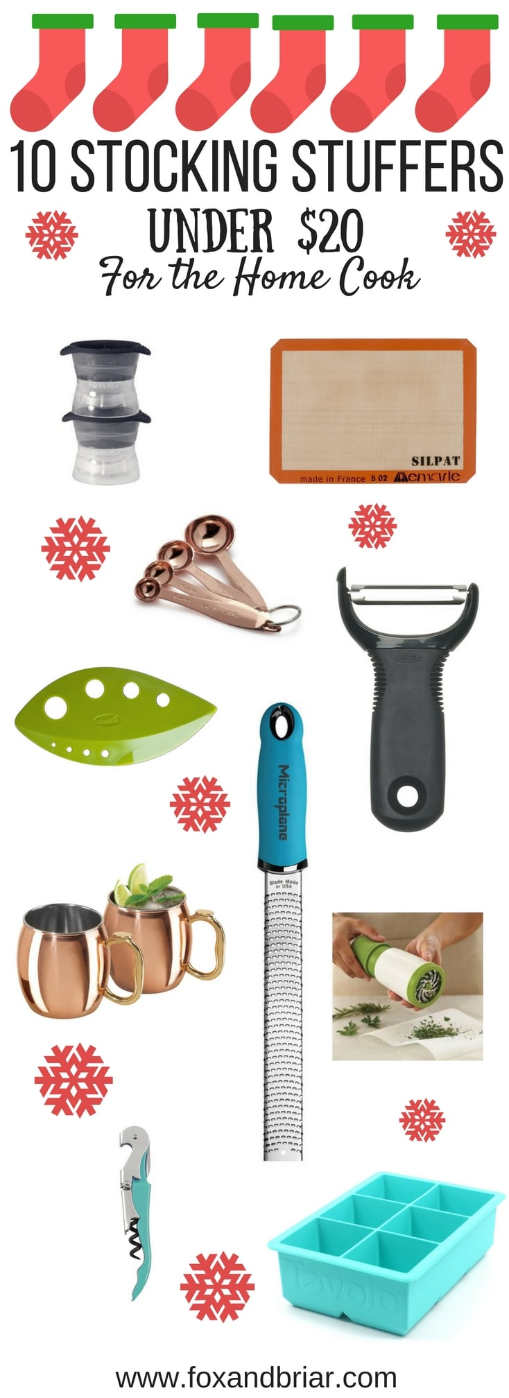 Looking for some stocking stuffers or inexpensive gifts for the home cook in your life? I've put together a list of 10 items under twenty dollars that any home cook would love!