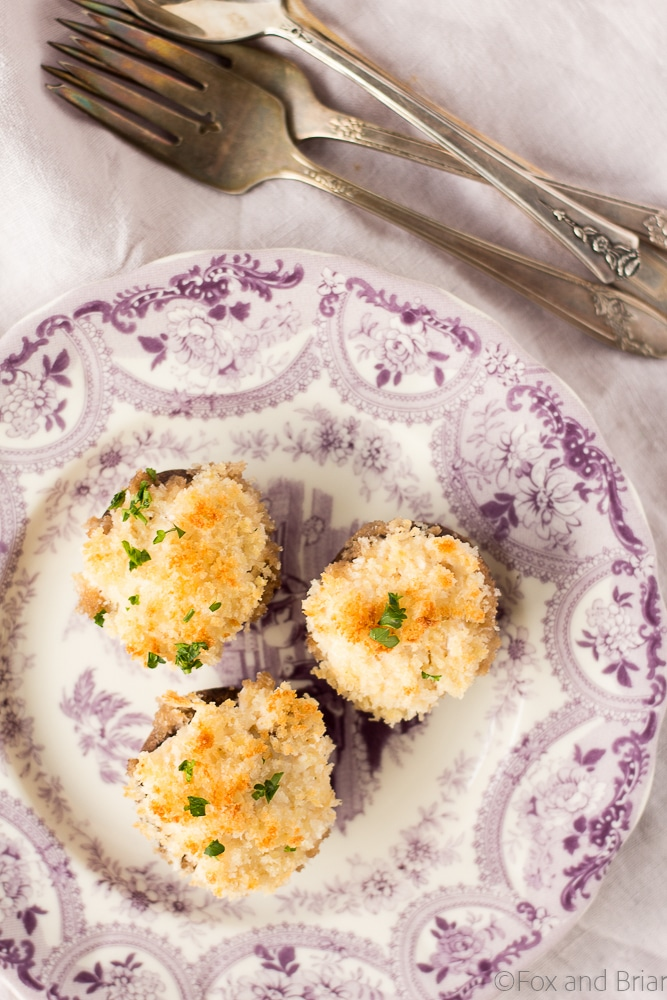 These easy crab dip stuffed mushrooms are a great party appetizer!
