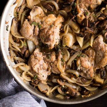 Skillet Chicken and White Wine Mushrooms...