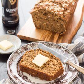 Irish Guinness Brown Bread | Saint Patrick's Day Recipes | Irish Recipes | Quick Bread Recipes | Beer Bread