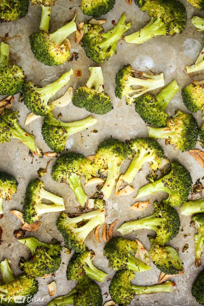 Lemon Parmesan Roasted Broccoli Fox And Briar