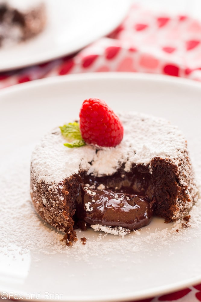 Easy Molten Chocolate Cake For Two