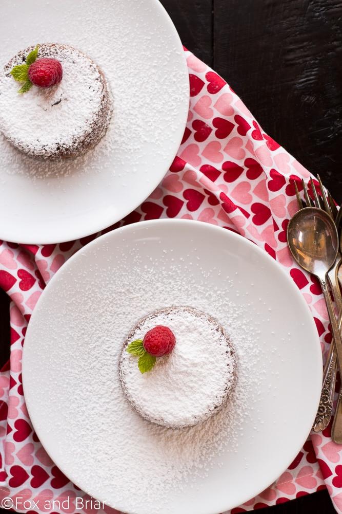 Molten Chcocolate Lava Cake For two   Dessert for Two   Small Batch Baking   Romantic Dessert   Valentine's Day Dessert   Date Night