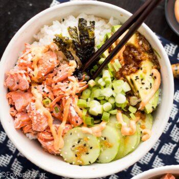 Salmon Sushi Bowls