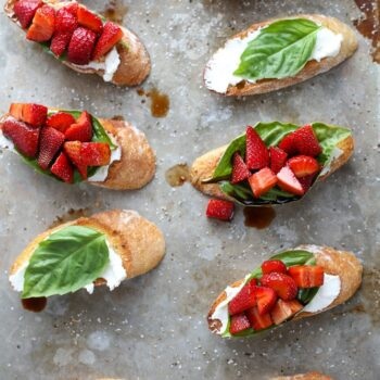Strawberry Chambord Whipped Cheese Toast...