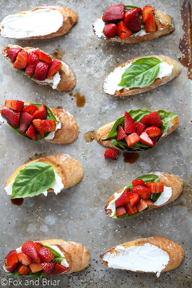 Strawberry Chambord Whipped Cheese Toasts (plus a cookbook giveaway!)