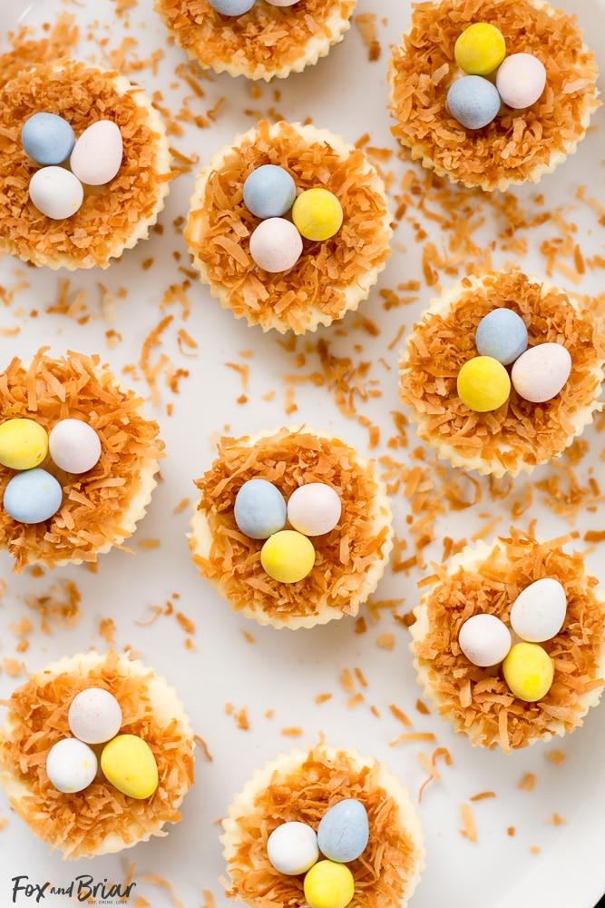 Easter Birds Nest Mini Cheesecakes