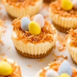 Easter Bird's Nest Mini Cheesecake...