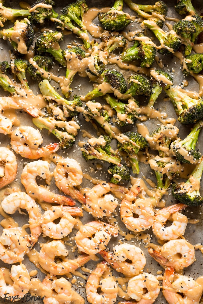 Sheet Pan Peanut Sauce Shrimp and Broccoli | Sheet pan dinner | shrimp recipe |Easy Dinner | healthy Dinner | Quick Dinner