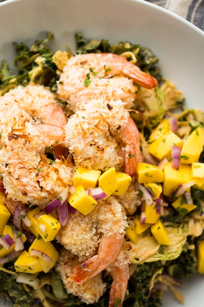 Coconut Shrimp Salad with Peanut Dressing and Mango Salsa ...