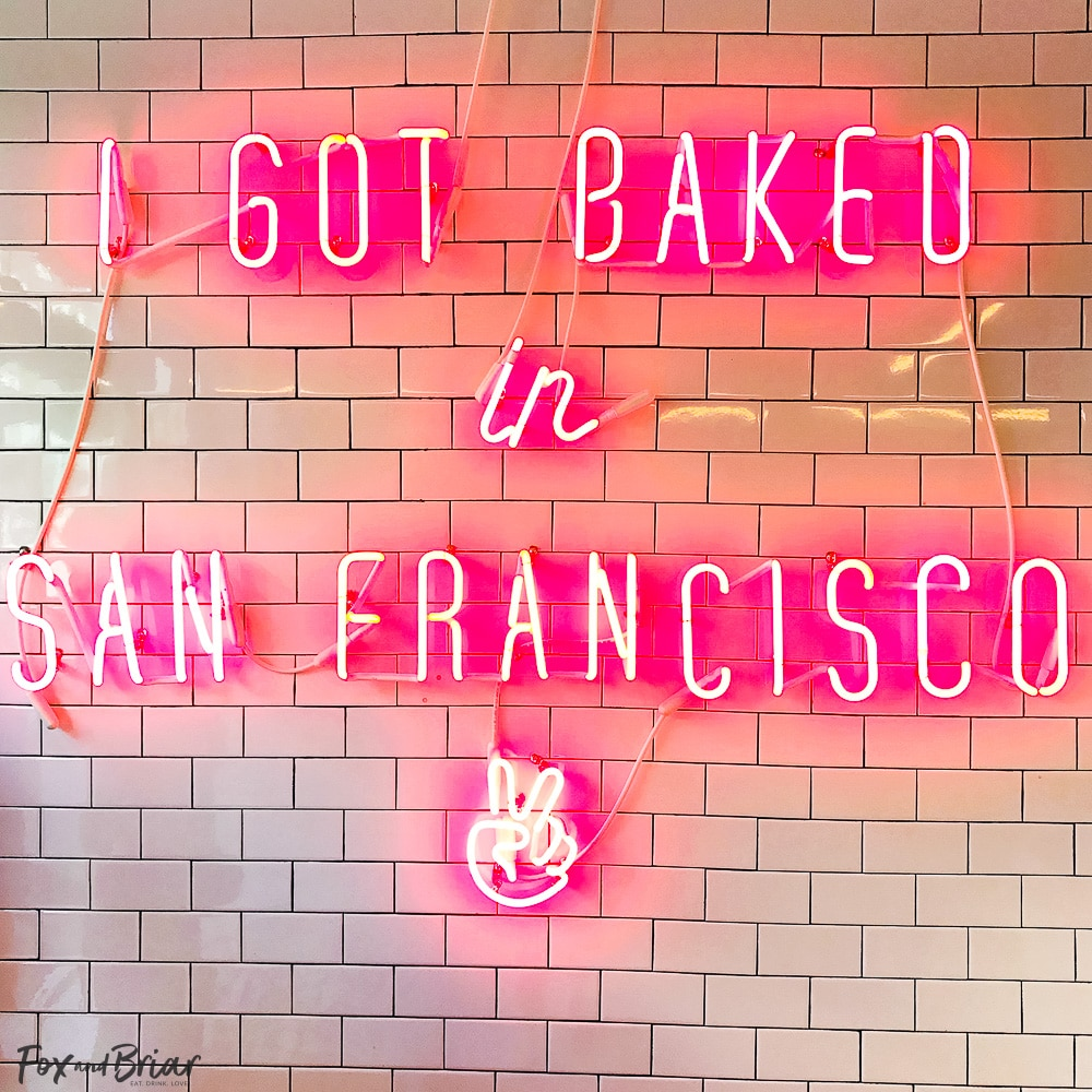 Neon Sign at Mr. Holmes Bakehouse. What to do and where to eat in San Francisco. The Ultimate Weekend Travel Guide! How to spend a 3 day weekend in San Francisco | Best places to eat in San Francisco | tourist attractions San Francisco | Weekend trip to San Francisco | Things to do in San Francisco | Underrated things to do in San Francisco