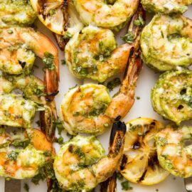 Easy Pesto Grilled Shrimp