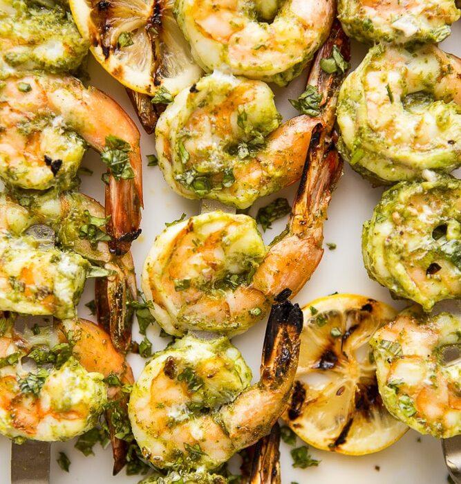 Pesto Grilled Shrimp