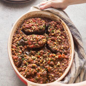 Meat Stuffed Eggplant: Bitten Jen